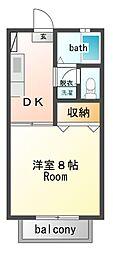 フレグランスMOTO[2階]の間取り