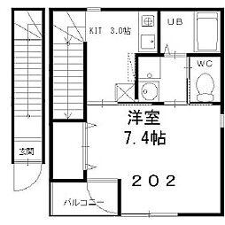 ブルゴーニュ・ハウス[202号室]の間取り