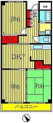 山口ビル[4階]の間取り