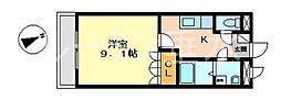 レジデンスE&R[1階]の間取り