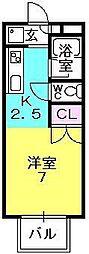 アニエス夙川[203号室]の間取り