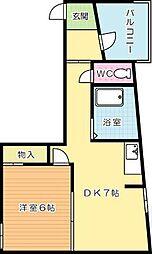 中央アパート[101号室]の間取り