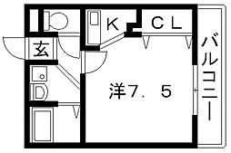 カインド高井田[504号室号室]の間取り
