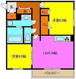 d−room吉田[1階]の間取り