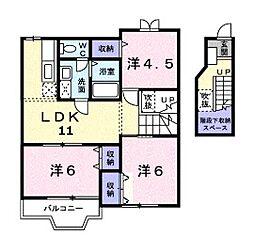 ソレイユ・二階堂 B棟[2階]の間取り