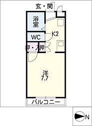 早川ヴィラII[2階]の間取り
