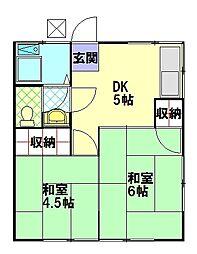斉藤アパート[201号室]の間取り