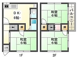 長興寺4丁目貸家[2階]の間取り