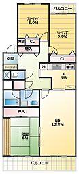 L-commuplus相模大野[3階]の間取り