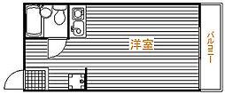 千葉県松戸市吉井町の賃貸アパートの間取り