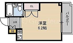 ハイム都島[2階]の間取り