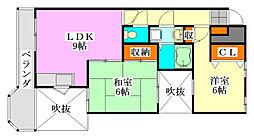 U-POINT中野木[104号室]の間取り