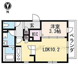 仮称)上鳥羽堀子町へーベルメゾン 2階1LDKの間取り
