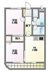 愛知県名古屋市名東区上菅1丁目の賃貸マンションの間取り