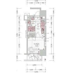 エステムプラザ名古屋丸の内 14階1Kの間取り