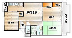 プレジデントタカヤ3[4階]の間取り