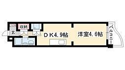 愛知県名古屋市天白区井口2丁目の賃貸マンションの間取り
