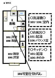 コーポ長田A棟[1階]の間取り