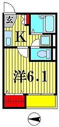 due Enikesu[1階]の間取り