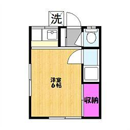 つくし荘[201号室]の間取り