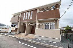 岡山県玉野市長尾の賃貸アパートの外観