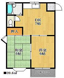 シルクハウス[1階]の間取り