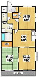 原第7マンション[108号室]の間取り