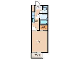TOSAマンション[1階]の間取り