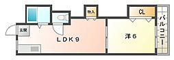 ゆたかマンション[5階]の間取り