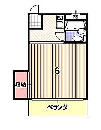 ハイツ西村[2階]の間取り