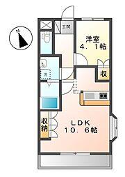 オータムコート藤[2階]の間取り