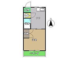 高知県高知市南御座の賃貸マンションの間取り