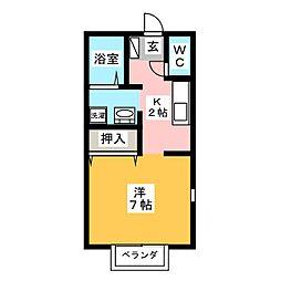 プリシェールSY[2階]の間取り