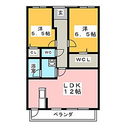 柚木ハイツ[2階]の間取り