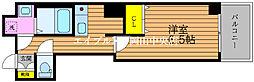 ラウレアM&F 6階1Kの間取り