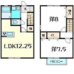 [テラスハウス] 兵庫県神戸市西区小山1丁目 の賃貸【/】の間取り