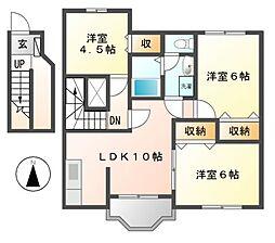 カームニッチ A[2階]の間取り