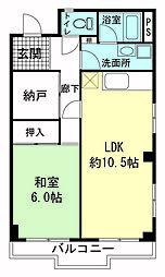 松本マンション[3階]の間取り