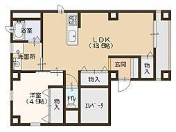 北堀江Gem[3階]の間取り