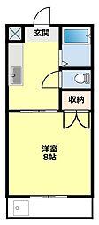愛知県豊田市渋谷町2丁目の賃貸マンションの間取り