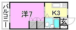 八束ハイツ[206 号室号室]の間取り