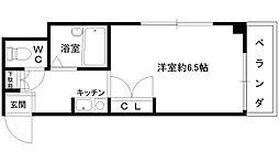 若江岩田駅徒歩11分 くろーば・菱江[505号室]の間取り