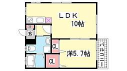 富井マンション[301号室]の間取り