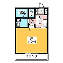 丸中マンション新居[2階]の間取り