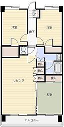 アイディコート高崎[13階号室]の間取り