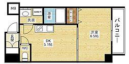オクトレーベン新大阪[3階]の間取り
