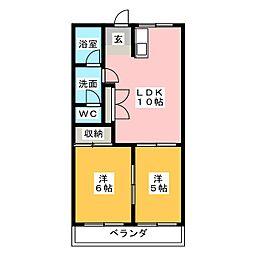 パルステージ[1階]の間取り