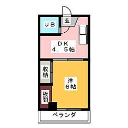 ハシモトビル[4階]の間取り