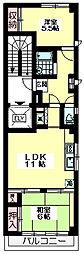 東京都杉並区上荻3丁目の賃貸マンションの間取り