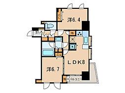 ダイアパレス麻布十番[4階]の間取り